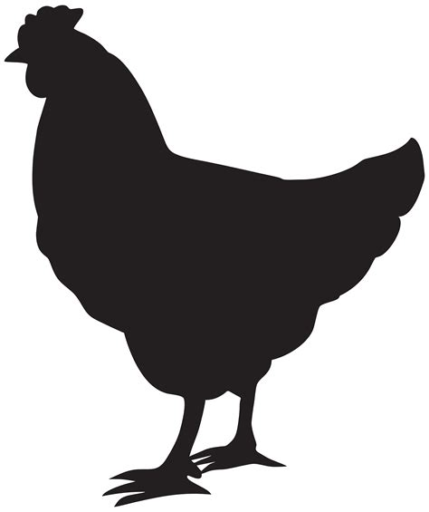 free clipart silhouette clipart hen silhouette clipground