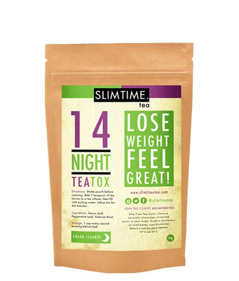 Slim Detox Teatox by Slim Time 14 Day Colon Cleanse Slim Time Tea Australia