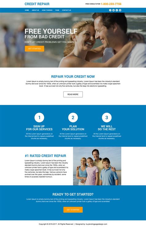 Credit Repair Brochure Templates Launch Your Business With Landing Page Design Templates