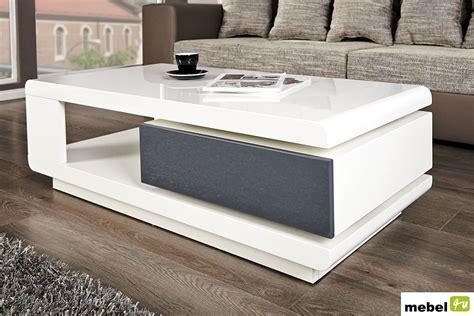 table de jardin ikea 1029 stolik kawowy ada biały z szarą szufladą sklep meblowy