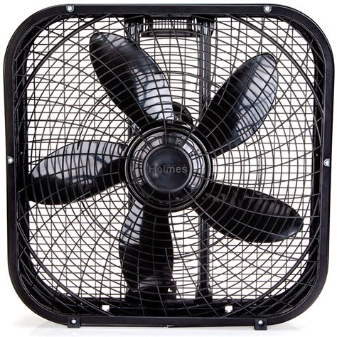 holmes 20 inch box fan black holmes 174 20 quot box fan black
