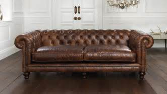 Chesterfield Leather Sofa Hton Chesterfield Sofa