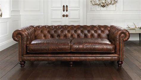Hton Chesterfield Sofa Leather Chesterfields Sofas