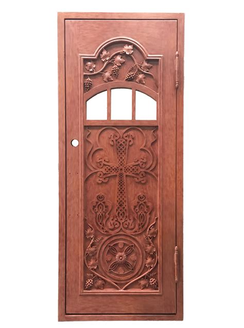 Ordinary Exterior Church Doors #4: Hand-Crafted-Church-Single-Door-EX7023.jpg