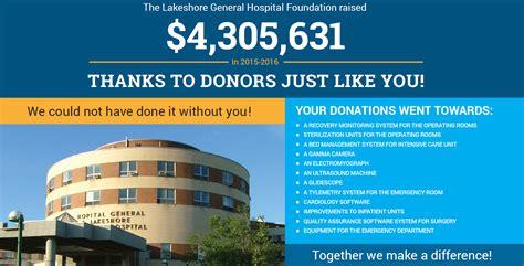 lakeshore hospital emergency room lakeshore general hospital foundation accomplishments