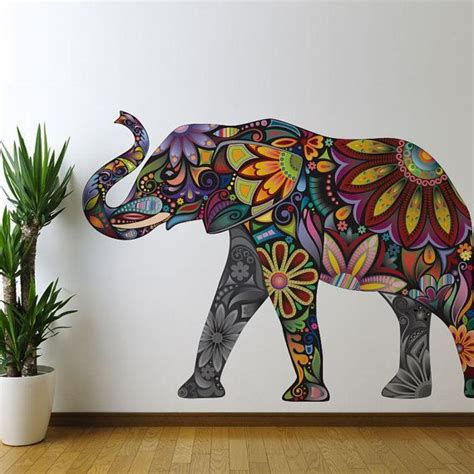 Colorful Wall Decor by 25 Unique Elephant Wall Ideas On