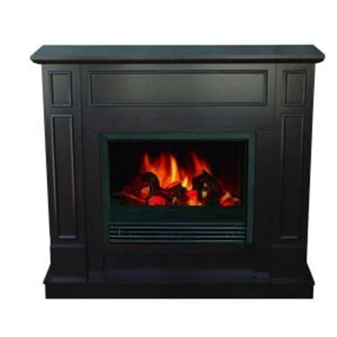 quality craft 44 in electric fireplace in chocolate