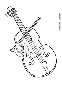 instrument coloring pages violin musical instruments coloring pages for printable