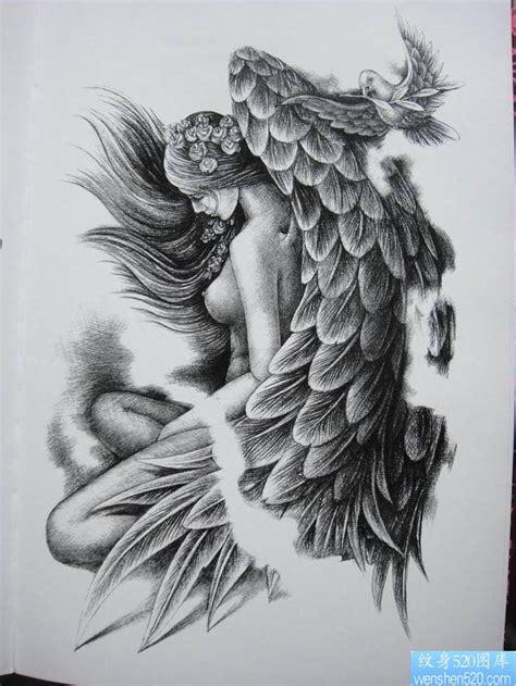 鸽子血六翼天使纹身内容 鸽子血六翼天使纹身图片