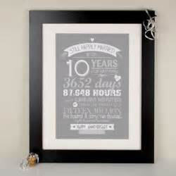 10th tin wedding anniversary gifts gettingpersonal co uk