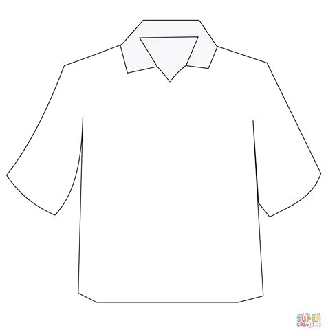 Coloring Page T Shirt by Polo Shirt Coloring Page Free Printable Coloring Pages