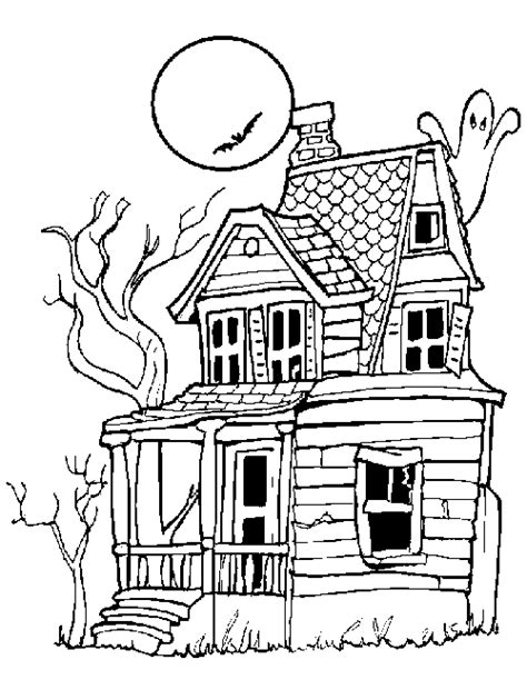 monster house coloring pages for kids