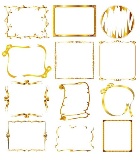 frames vector free ornate gold frames free vector ai format free vector
