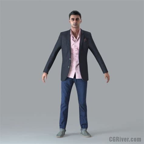 Bathroom Designer Software by Casual Man Rigged 3d Human Model Cman0017m4 Cgriver