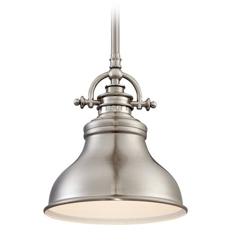 Quoizel Pendant Lights Quoizel Emery Brushed Nickel Mini Pendant Light Er1508bn Destination Lighting