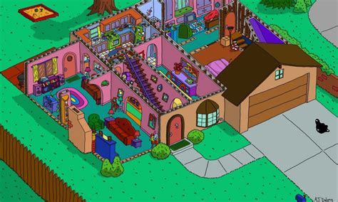 The Simpsons Floor Plan by Virtual Room Planner Free Simpsons House Layout Simpsons