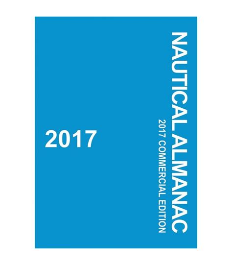 nautical almanac 2017 commercial edition