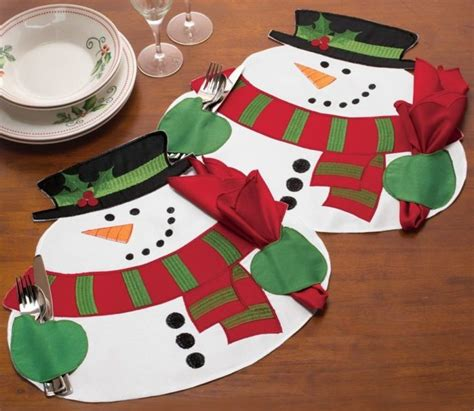 snowman table runner and placemats 10 most and adorable table placemats home