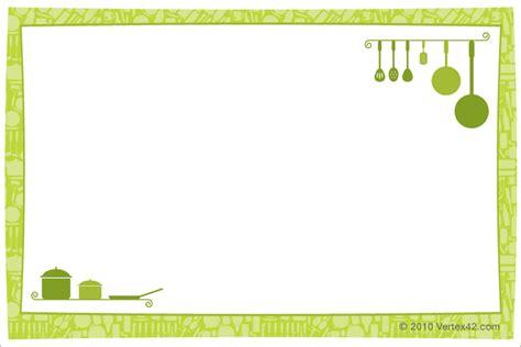 printable recipe card template  word