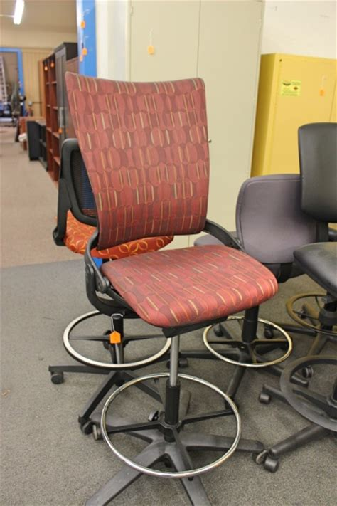 Counter Height Task Chair by Counter Height Patterned Task Chair Office Chairs A