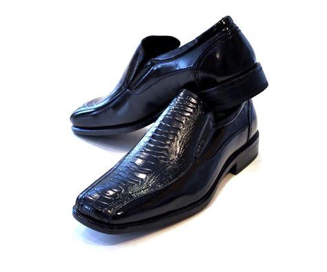black dress shoe slip on alligator crocodile ebay