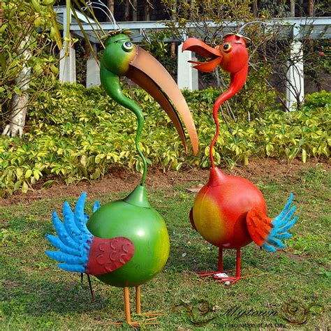 home garden decor funny ibis birds lawn ornaments statues