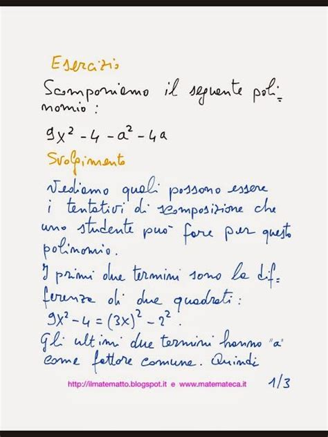 test scomposizione polinomi 147 fantastiche immagini su esercizi svolti di matematica