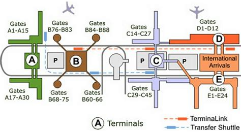 map of george bush intercontinental airport houston texas airport terminal map george bush airport gate map jpg