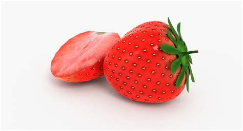 3d 3 Strawberry strawberry studiomax 3d model