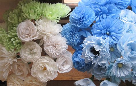 Make Paper Flowers Wedding - crepe paper flowers a blue and yellow wedding q is for