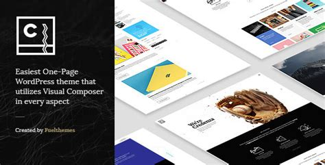 themeforest preview image size credenza vc powered one page theme by fuelthemes