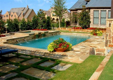 Backyard Swimming Pool Designs With Awesome Landscaping Backyard With Pool Designs