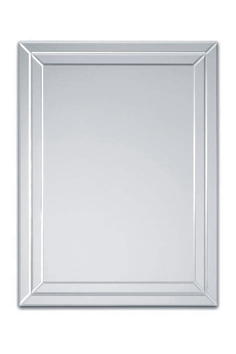 Bevelled Mirror by Frameless Double Strips Side Bevelled Wall Mirror By