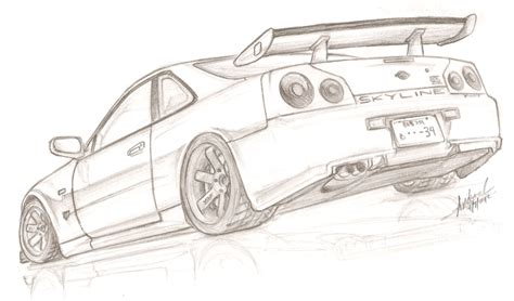 nissan skyline drawing nissan skyline r34 gt r v spec ii by tougedrifting85 on