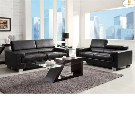 black sofa set dreamfurniture 9603blk vernon sofa set black