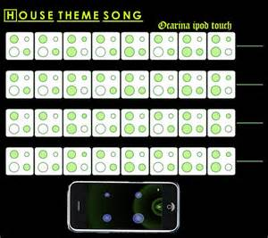 house theme song notes ocarina ipod touch iphone and