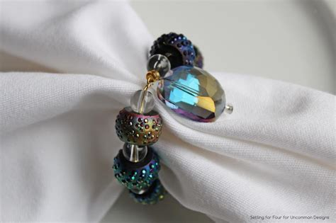 beaded serviette rings how to make beaded napkin rings complete simple photo