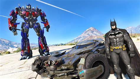 mod gta 5 transformers batman vs optimus prime gta 5 transformers batman mod