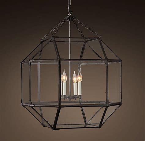 Parisian Octagonal Clear Glass Pendant Home Decor Restoration Chandeliers