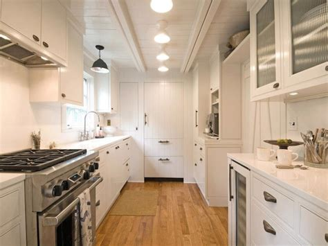 Kitchen Oak Cabinets Color Ideas Wood Ceiling Lights Galley Kitchen With Plank Ceiling