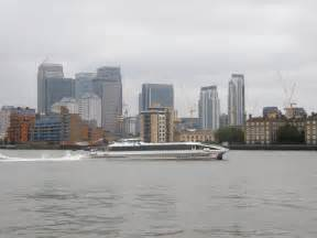 thames clipper hammersmith canary wharf and a thames clippers catamaran a picture