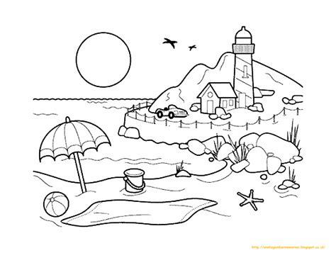 gambar sederhana untuk tk 10 gambar mewarnai pemandangan alam untuk anak paud dan tk