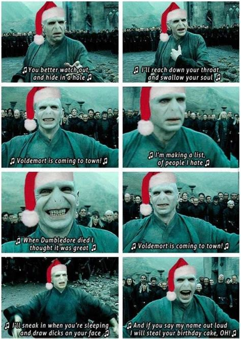 Harry Potter Christmas Meme - voldemort christmas song im in tears hogwarts