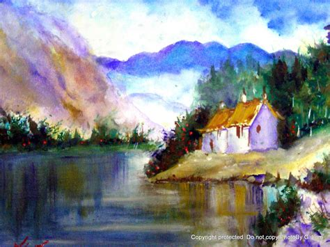 watercolor painting artscanyon gallery two watercolor landscape paintings