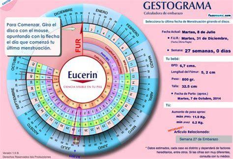 calcular semanas de embarazo calculadora del embarazo calcular dias de embarazo gestograma