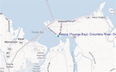 Columbia River Tide Tables by Astoria Youngs Bay Columbia River Oregon Tide Station Location Guide