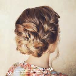 plait at back of hairstyle back braid bun short hairstyle 2013