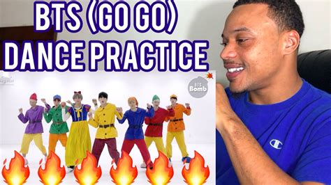 bts gogo dance bts go go dance practice bts reaction youtube