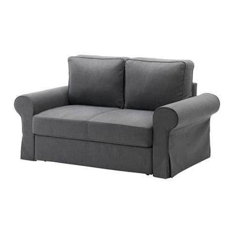 Backabro two seat sofa bed nordvalla dark grey ikea