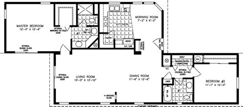 2 bedroom 2 bath mobile home floor plans 1000 to 1199 sq ft manufactured home floor plans